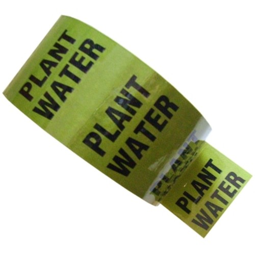PLANT WATER - Colour Printed Pipe Identification (ID) Tape