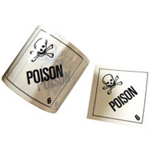 6 Poison - Premium Hazard Labels
