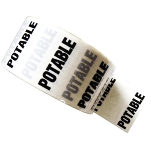 POTABLE - White Printed Pipe Identification (ID) Tape