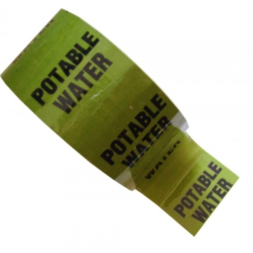 POTABLE WATER - Colour Printed Pipe Identification (ID) Tape