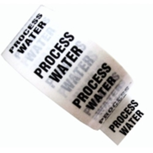 PROCESS WATER - White Printed Pipe Identification (ID) Tape