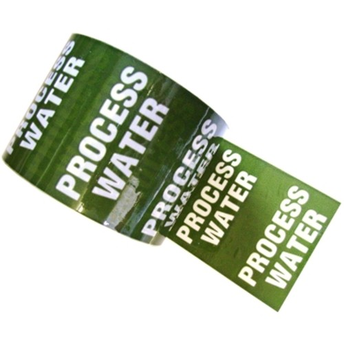 PROCESS WATER - Colour Printed Pipe Identification (ID) Tape
