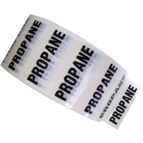 PROPANE - White Printed Pipe Identification (ID) Tape