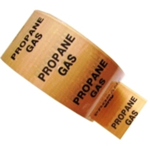 PROPANE GAS - Colour Printed Pipe Identification (ID) Tape