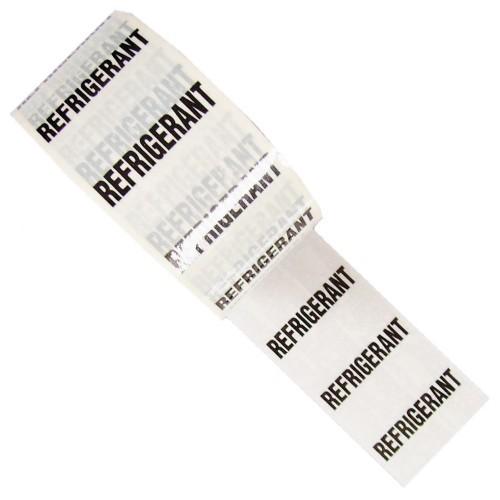 REFRIGERANT - White Printed Pipe Identification (ID) Tape