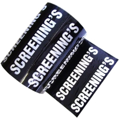 SCREENING'S - Colour Printed Pipe Identification (ID) Tape