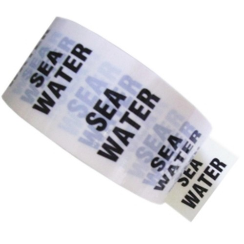 SEA WATER - White Printed Pipe Identification (ID) Tape