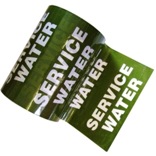SERVICE WATER - Colour Printed Pipe Identification (ID) Tape