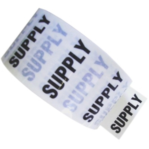 SUPPLY - White Printed Pipe Identification (ID) Tape
