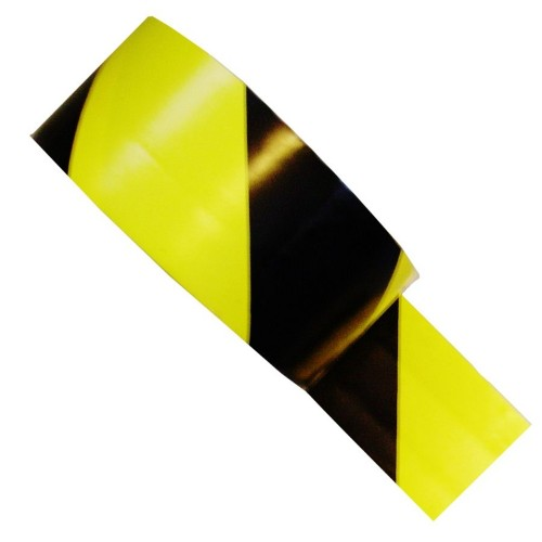 Striped Black and Yellow Hazard Tape (48mm x 33m)