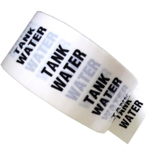 TANK WATER - White Printed Pipe Identification (ID) Tape