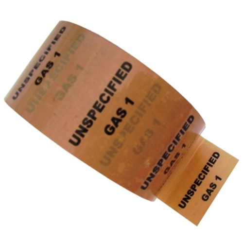 UNSPECIFIED GAS 1 - Colour Printed Pipe Identification (ID) Tape