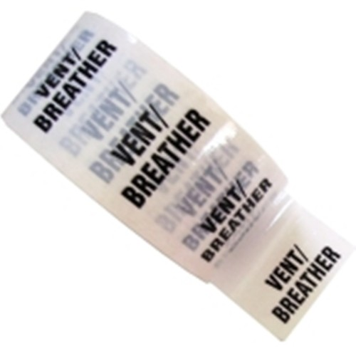 VENT BREATHER - White Printed Pipe Identification (ID) Tape