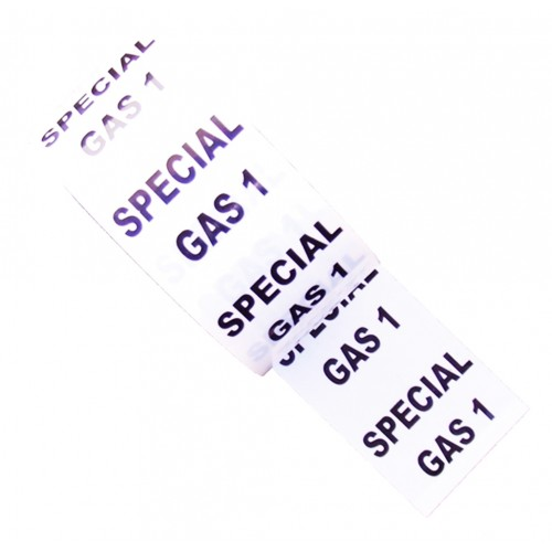 SPECIAL GAS 1 - White Printed Pipe Identification (ID) Tape