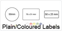 Plain adhesive Labels