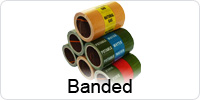 Banded Indoor Pipeline ID Tape