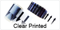 Clear Printed Indoor Pipeline ID Tape