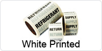 White Printed Indoor Pipeline ID Tape